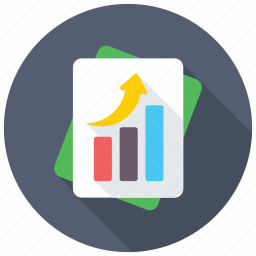 business analysis, business communication, business report, sales report, stock report icon