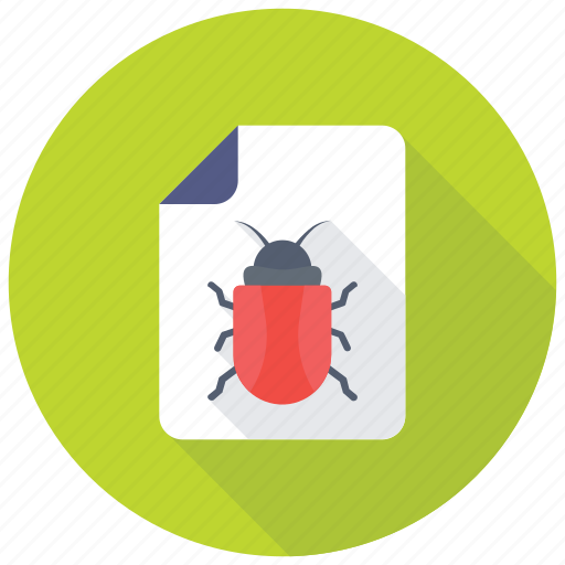 bug fixing, bug report, software bug, spam file, spam management icon