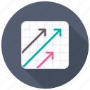 business growth, growth arrow, key performance indicator, kpi, progress arrow icon