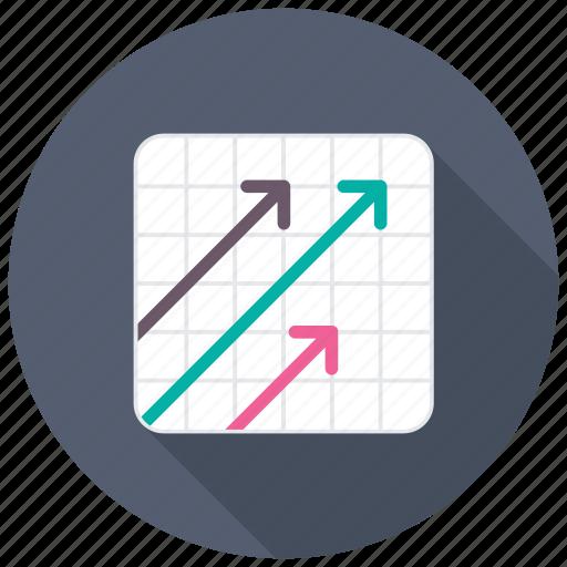business growth, growth arrow, key performance indicator, kpi, progress arrow icon