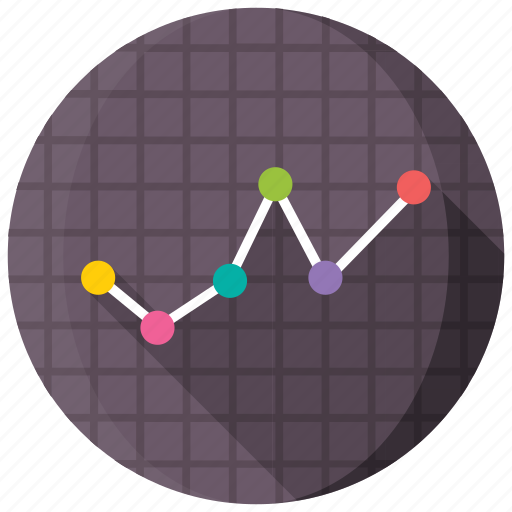 analytics, infographic, line chart, line graph, statistics icon