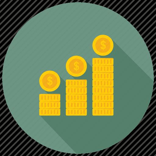 business growth, economy grow, financial growth, profit, progress icon
