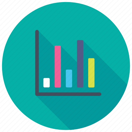 barchart analytics, financial report, growth analysis, project analysis, sales report icon