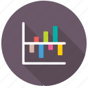 business analytics, comparative bar chart, data presentation, infographics, statistics icon