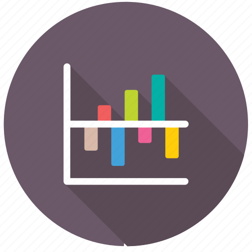 Business analytics, comparative bar chart, statistics, data presentation, infographics icon