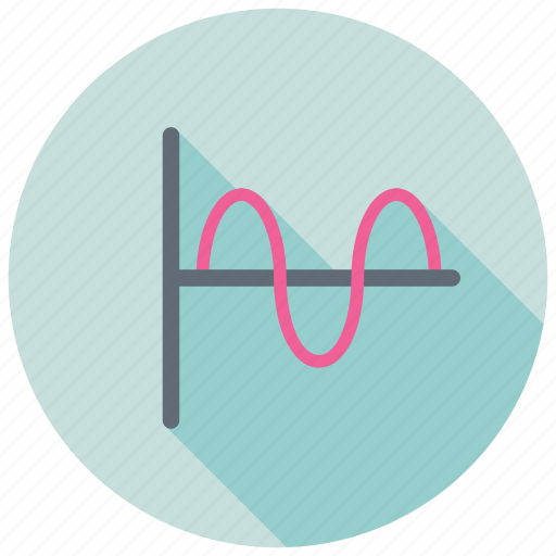 curved graph, function plots, parabola graph, sine cosine graph, statistics icon
