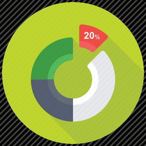 circle chart, dashboard, data analytics, data visualization, doughnut chart icon