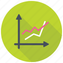 business growth chart, comparison graph, line chart, line graph, trending graph icon