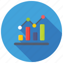 bar line chart, bar line graph, dashboard, data analytics, infographic icon