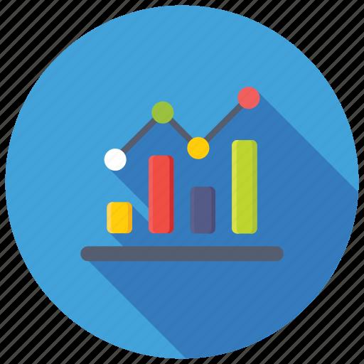 Bar line graph, infographic, bar line chart, data analytics, dashboard icon