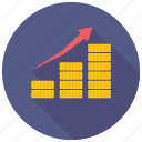 bar chart, bar graph, performance analysis, progress chart icon