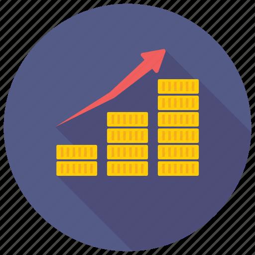 Bar chart, progress chart, performance analysis, bar graph icon