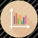 bar graph analysis, business infographics, histogram, probability distribution, statistical data icon