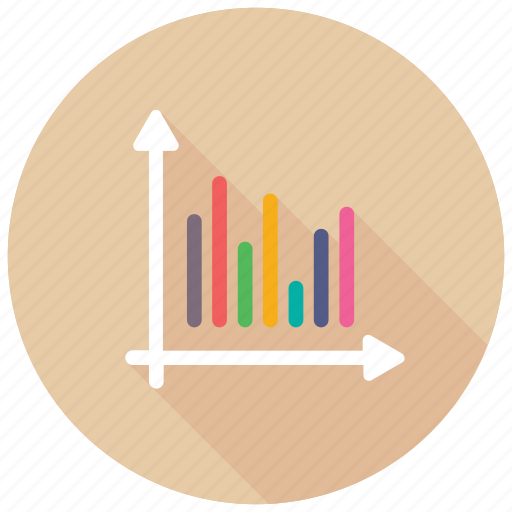 bar graph analysis, business infographics, histogram, probability distribution, statistical data icon