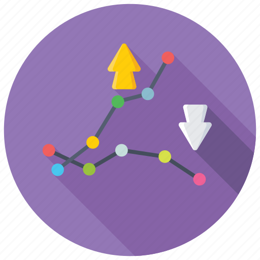 financial performance, graph visual, option pricing graph, profit and loss diagram, risk graph icon