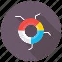 dashboard, data analytics, data visualization, doughnut chart, multi-level pie chart icon