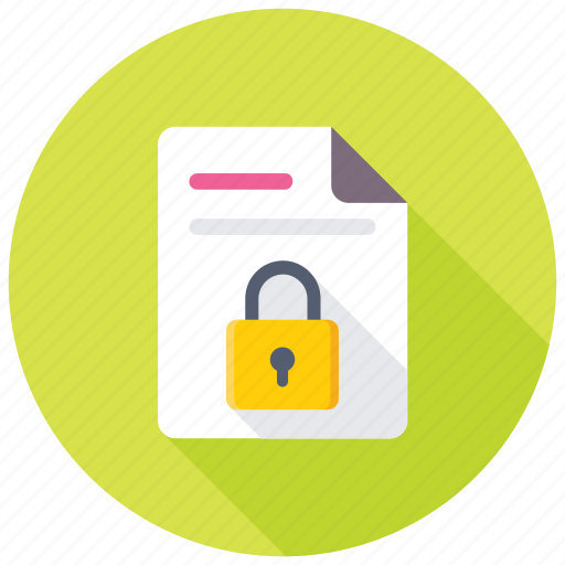 data protection, data security, document encryption, file locked, file security icon