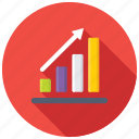analytics, bar chart, bar diagram, bar graph, growth chart icon