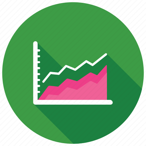 area chart, area graph, data visualization, graph analysis, growth chart icon