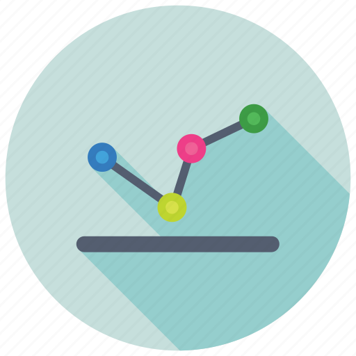 Business analytics, line graph, statistics, statistical infographic, trending chart icon
