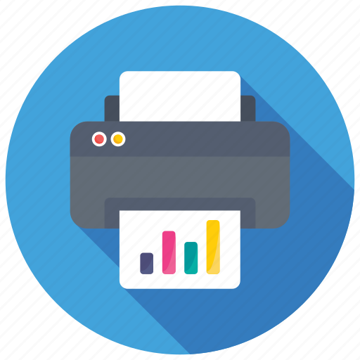 business fax, facsimile, financial report printing, office printer, office supplies icon