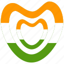 heart, india, republic day icon