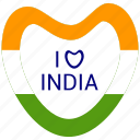 heart, i love india, india, republic day icon