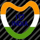 heart, i love india, india, republic day