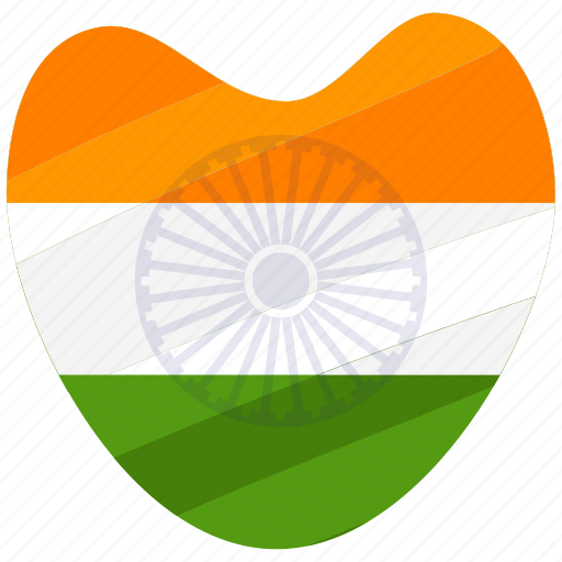 country, heart, india, republic day icon