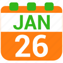 date, day, event, republic day, schedule icon