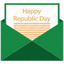 email, mail, open, republic day icon