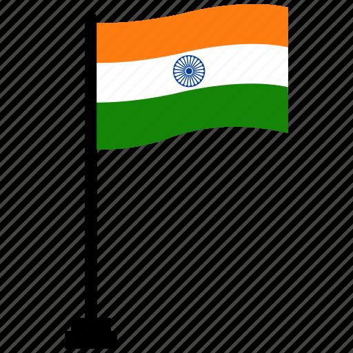 flag, india, republic day icon