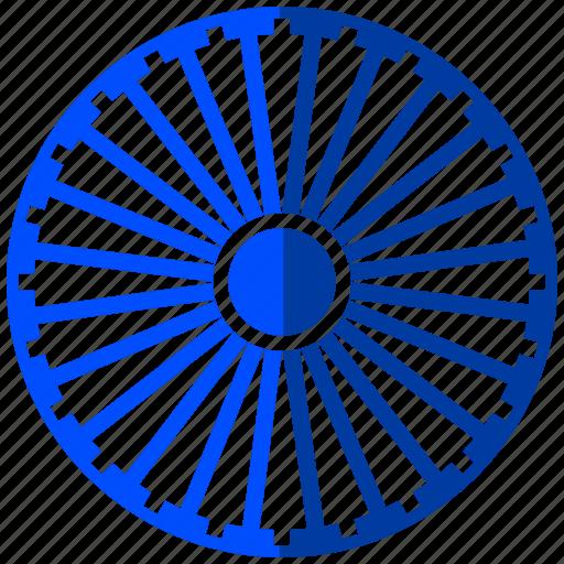 india, republic day, wheel icon
