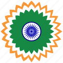 country, flag, india, republic day icon