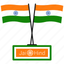 flag, india, jai hind, republic day icon