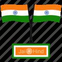 flag, india, jai hind, republic day