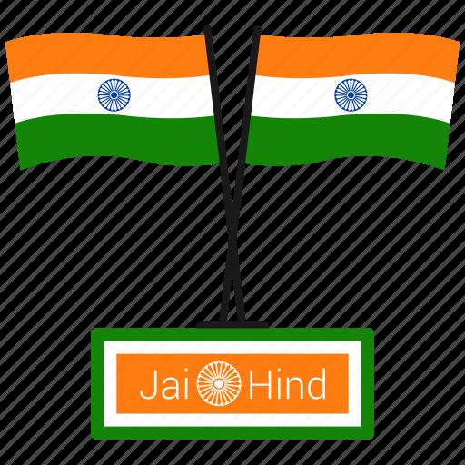 flag, india, jai hind, republic day icon