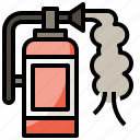 extinguisher, fire, firefighting, protect, safety icon