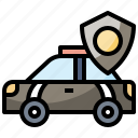 automobile, car, emergency, patrol, police, transportation icon