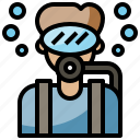 avatar, diver, job, man, occupation, people, profession