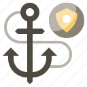 anchor, coast, guard, protection, safety, security, shield icon