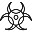 biohazard, biological, danger, science, toxic, virus, warning icon