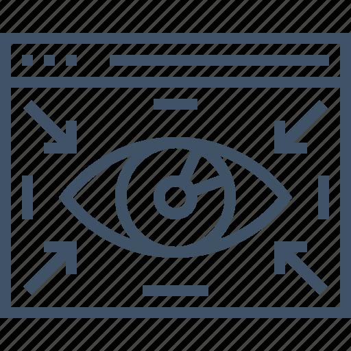 browser, eye, iris, monitor, responsive, viewport icon