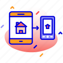 conection, mobile, network, tab icon