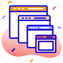 web pages, tabs, browsing, sites icon