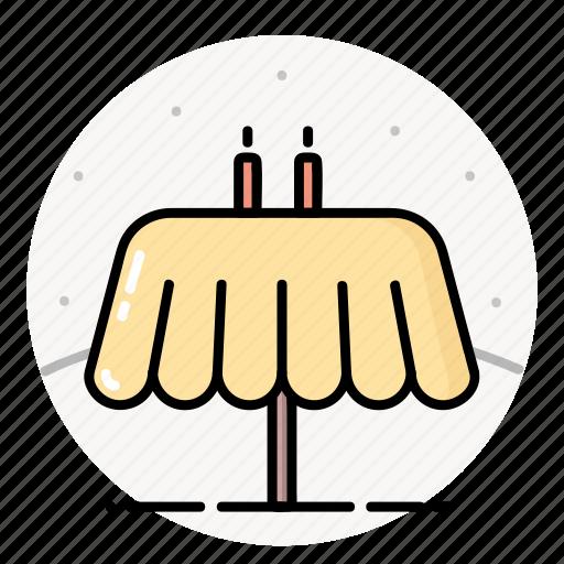 candles, decor, restaurant, table icon