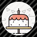 birthday, cake, dessert, food, sweet