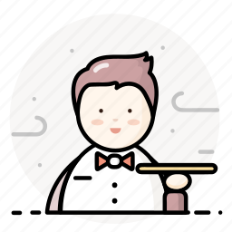man, restaurant, service, staff, waiter icon