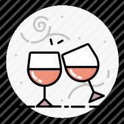alcohol, drink, glasses, restaurant, wine icon