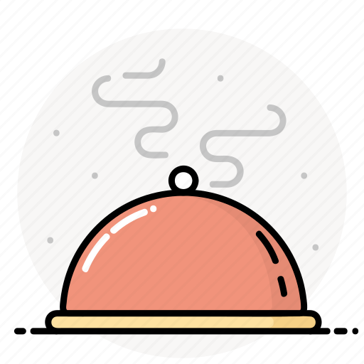 dish, dome, dome plate, food, kitchen, meal, restaurant icon